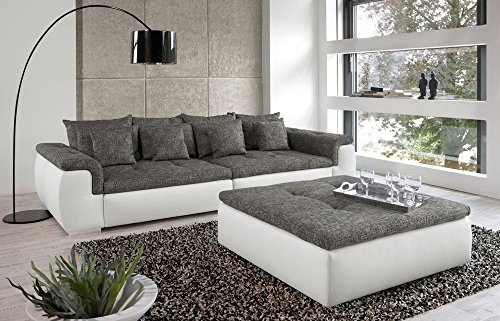 big sofa in wei grau mit steppungen 4 gro e. Black Bedroom Furniture Sets. Home Design Ideas