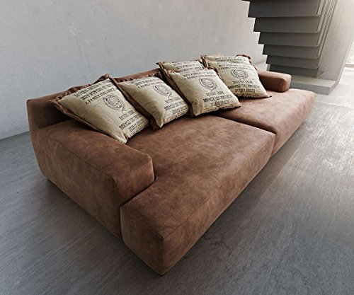 Bigsofa Cabana Braun 304x140 Vintage Look by Ultsch Polstermöbel Big Sofa