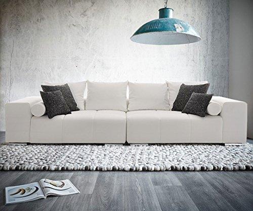 Bigsofa Marbeya 290x120 cm Weiss inklusive Kissen