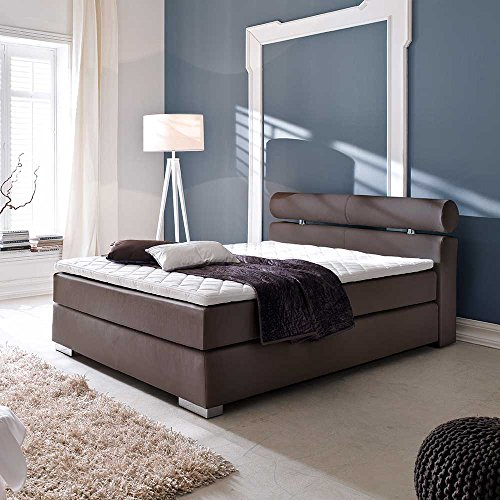 boxspring bett in braun matratze breite 182 cm liegefl che 180x200 pharao24 m bel24. Black Bedroom Furniture Sets. Home Design Ideas