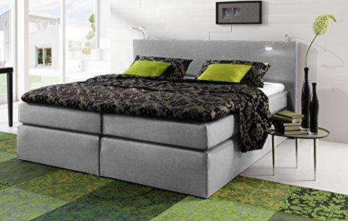 boxspringbett 160 x 200 cm grau m bel24. Black Bedroom Furniture Sets. Home Design Ideas