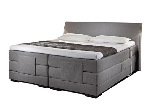 boxspringbett elektrisch verstellbar avignon gew lbtes kopfteil in 30 stoffe oder t leder 5. Black Bedroom Furniture Sets. Home Design Ideas