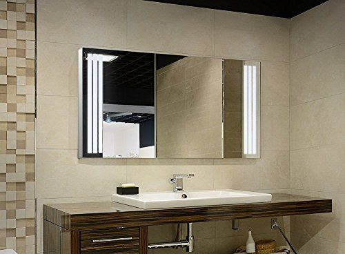 Bricode Süd LED Badezimmerspiegel Clarius (C). Badspiegel in verschiedenen größen mit LED Beleuchtung (warmweiß, 100cm x 60 cm (bxh))