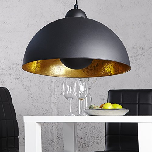 cag design h ngelampe spot schwarz gold 53cm m bel24 xxl m bel. Black Bedroom Furniture Sets. Home Design Ideas