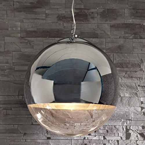 CAGÜ - DESIGN LOUNGE HÄNGELAMPE HÄNGELEUCHTE [PELOTA] GLAS & CHROM 40cm Ø