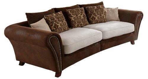 Cavadore 500 Big Sofa Bajla 257 x 75-85 x 120 cm, Inari beige 22 / Antik chocco