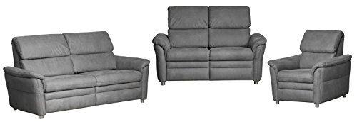 Cavadore 526 Sitzgruppe Chalsay, 2/3-Sitzer und Sessel, 3-er 179 x 94 x 92 cm, 2-er 145 x 94 x 92 cm, 90 x 94 x 92 cm, Cruze argent 709