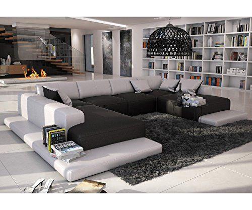 Couch Bethany Schwarz Weiss 360x271 XXL Sofa Lounge Ottomane Links