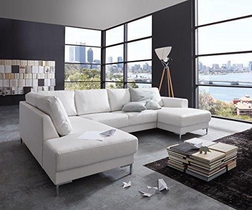 couch silas weiss 300x200 cm ottomane links designer wohnlandschaft m bel24. Black Bedroom Furniture Sets. Home Design Ideas