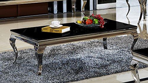 couchtisch mit liftfunktion wei hochglanz braga mit h henverstellbare platte edelstahl m bel24. Black Bedroom Furniture Sets. Home Design Ideas