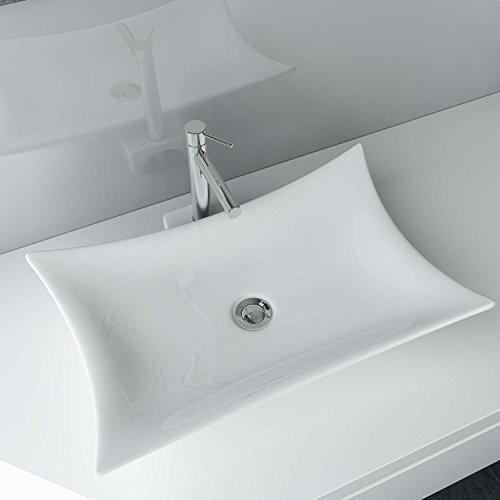 Design keramik waschtisch aufsatz waschbecken waschplatz for Badezimmer xxl
