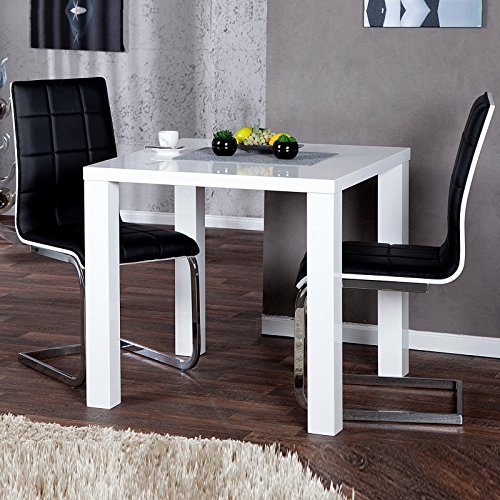 design tisch malm 80 x 80 cm k chentisch bistrotisch hochglanz weiss m bel24. Black Bedroom Furniture Sets. Home Design Ideas
