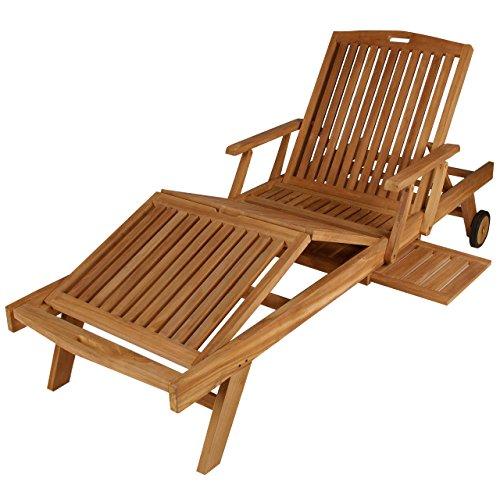 divero gl05660 mehrfach verstellbare sonnenliege gartenliege relaxliege liege holzliege teak. Black Bedroom Furniture Sets. Home Design Ideas
