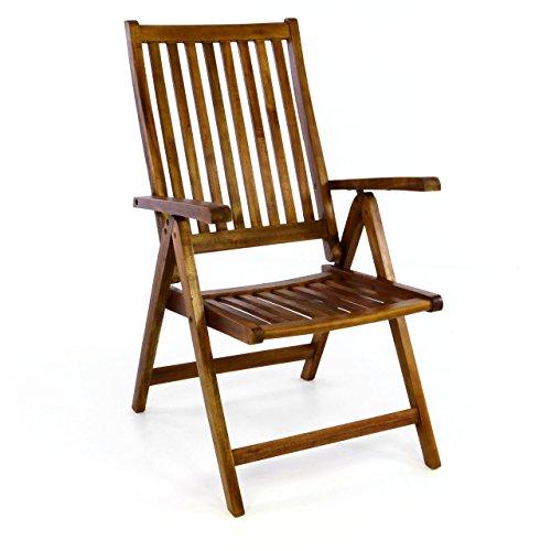 divero stuhl akazie holz hochlehner 5 fach verstellbar klappbar gartenstuhl m bel24. Black Bedroom Furniture Sets. Home Design Ideas