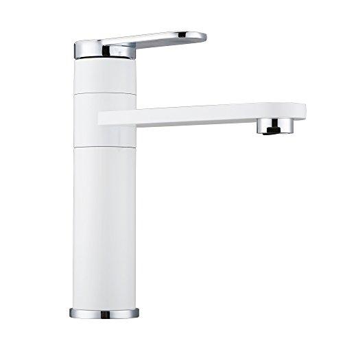 Dailyart® Weiß Design Bad Waschtisch-Armatur Wasserhahn Chrom Waschtischarmaturen Badezimmerarmaturen