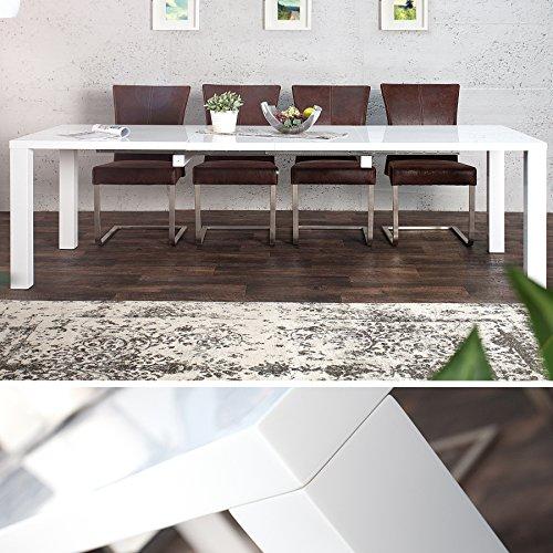 trendteam et16269 esstisch wohnzimmertisch tisch esche grau nachbildung ausziehbar lxbxh 160. Black Bedroom Furniture Sets. Home Design Ideas