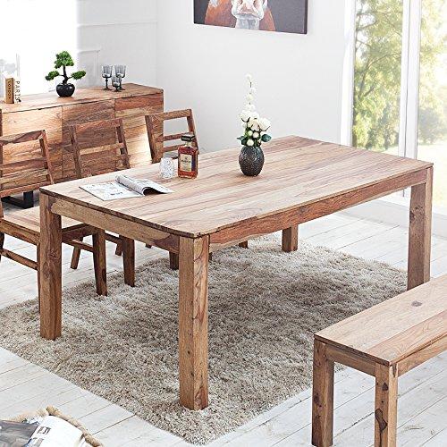 design esstisch sheesham palisander pure stone markant finish 200cm naturhell mit massiven. Black Bedroom Furniture Sets. Home Design Ideas