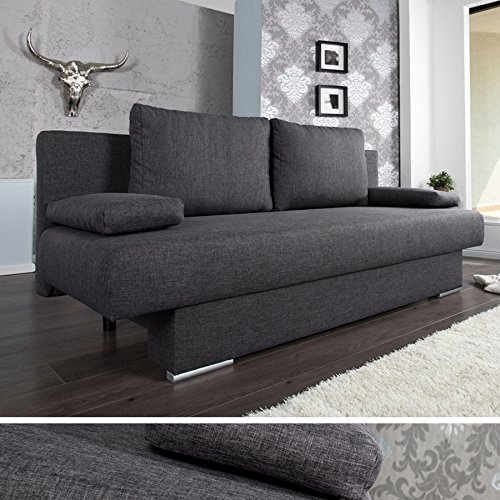 design schlafsofa barclays anthrazit 200cm bettkasten g stebett funktion m bel24. Black Bedroom Furniture Sets. Home Design Ideas