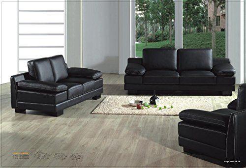 Design Voll-Leder-Sofa-Garnitur-Polstermöbel-Sessel 402-3+2+1 -S