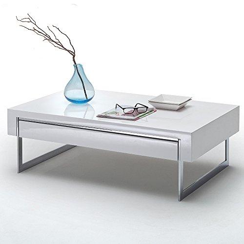 designer couchtisch ben sofatisch beistelltisch schubkasten hochglanz wei m bel24. Black Bedroom Furniture Sets. Home Design Ideas