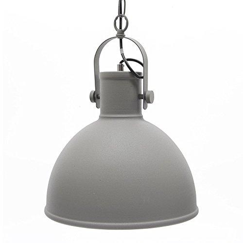Designer Deckenleuchte Hängelampe Industrie-Look Metall Grau 30cm
