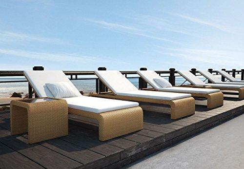 dreams4home gartenliege maui liege gartenliege balkonliege rattanliege mit auflage zum. Black Bedroom Furniture Sets. Home Design Ideas