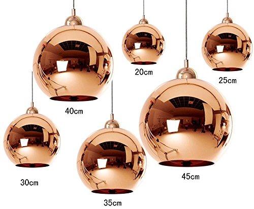 dst copper mirror ball 30cm deckenlampen kronleuchter f r esszimmer wohnzimmer schlafzimmer. Black Bedroom Furniture Sets. Home Design Ideas