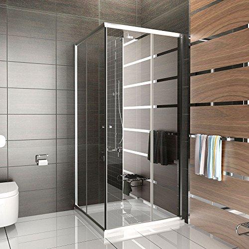 bth 80x80x190 cm design duschabtrennung ravenna14s esg sicherheitsglas klarglas mit milchglas. Black Bedroom Furniture Sets. Home Design Ideas