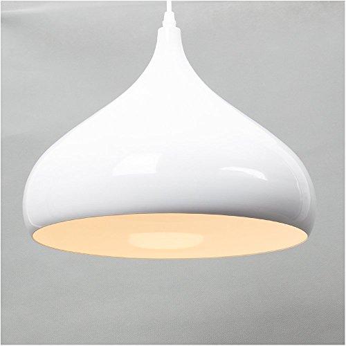 E27 Fassung Modern Simplicity Pendelleuchte Bürodeckenleuchten Schlafzimmer Hängeleuchte Backender Lampenschirm (Weiß)