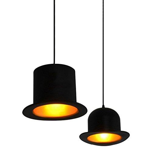 EST007® Designerlampen gekrönt rund Restaurant Kronleuchter kreative Persönlichkeit Einkopf- Kronleuchter Kleidung Hut
