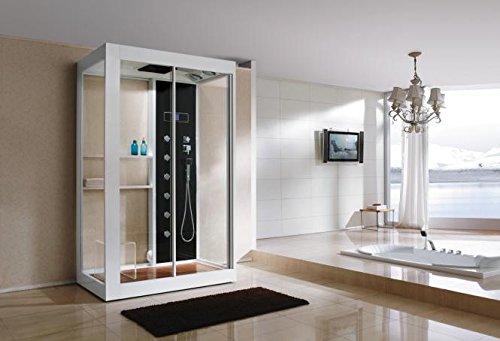 Echtglas Dampfdusche B801 Duschtempel 135 x 220 cm Sonderangebot