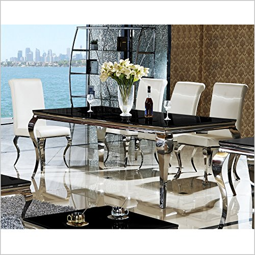 esstisch 140 160 180 o 200 x 90 x 76 cm lara schwarz esszimmer designer luxus tisch b ro. Black Bedroom Furniture Sets. Home Design Ideas