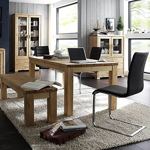 esstisch esszimmertisch madison 180x90 massivholz holz kiefer massiv d nische beize breite 180. Black Bedroom Furniture Sets. Home Design Ideas