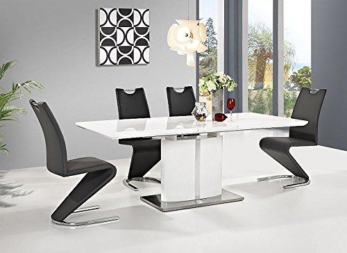 esstisch hochglanz wei 90 200 cm firenze ausziehbar. Black Bedroom Furniture Sets. Home Design Ideas