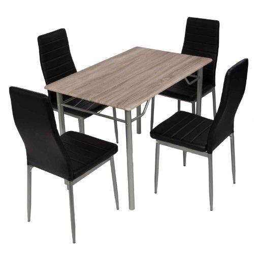 esstischgruppe tischgruppe sitzgruppe mit 4 st hlen und esstisch 110 70 cm m bel24. Black Bedroom Furniture Sets. Home Design Ideas