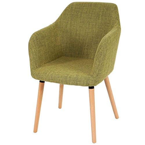 Esszimmerstuhl Malmö T381, Stuhl Lehnstuhl, Retro 50er Jahre Design ~ Textil, hellgrün Möbel24