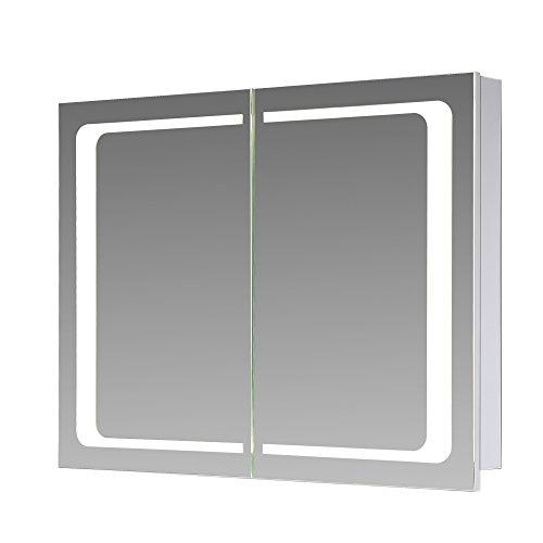 eurosan london l80 2 t riger spiegelschrank integrierte led frontbeleuchtung breite 80 cm. Black Bedroom Furniture Sets. Home Design Ideas