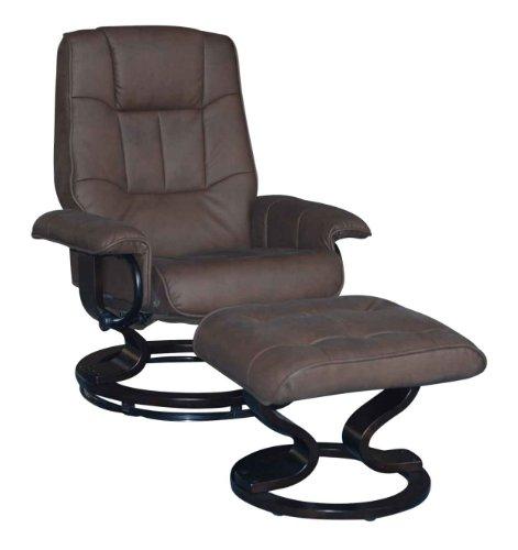 fernsehsessel relaxsessel kunstleder leder optik tv sessel mit hocker braun wohnzimmer m bel24. Black Bedroom Furniture Sets. Home Design Ideas