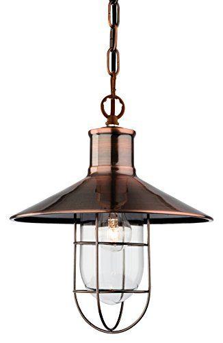 Firstlight 2306AC E14, kleine Edison-Schraube, 60 W Pendelleuchte-Crescent Antique Copper