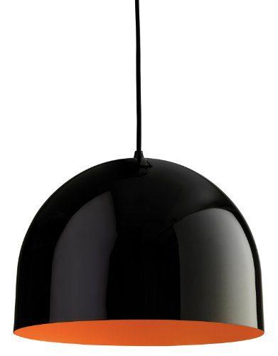 Firstlight Hängeleuchte Edison Screw, E27, 60 W, House Anhänger, schwarz mit orangem Inneren