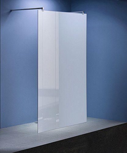 Freistehende 10 mm Duschabtrennung Düsseldorf - Milchglas, Frost 138 x 200 cm / Walk-In Duschtrennwand Duschwand Dusche