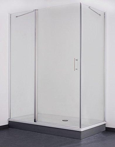 Galdem Duschabtrennung Premium 170 x 75 cm / 6 mm / Duschkabine / Dusche / Rechteck / Echtglas / Sicherheitsglas / Anti-Kalk- & Anti-Schmutz-Beschichtung / Bad