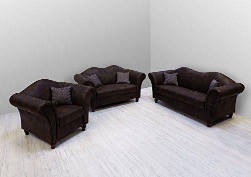 Garnitur Westminster im Kolonialstil / Englischer Stil Sofa 3-2-1