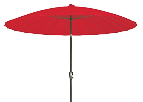GoodSun Kurbelschirm OR, Rot, 270 cm, 24-teilig
