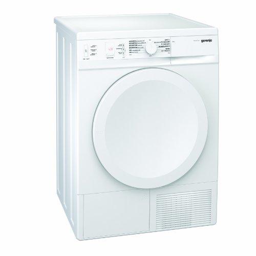 Gorenje D 8450 N Kondensations-Wäschetrockner mit Wärmepumpentechnologie / 8 kg / weiß / SensoCare / IonTech / Startzeitvorwahl (24 h) / Edelstahltrommel