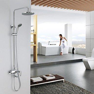 Guli Duscharmaturen - Zeitgenössisch - Regendusche/Handdusche inklusive - Messing ( Chrom )