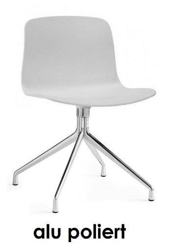 hay about a chair 10 hay drehbares alu gestell gl nzend poliert aac 10 weiss design hee welling. Black Bedroom Furniture Sets. Home Design Ideas