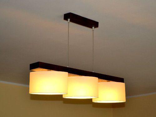 Hängelampe Hängeleuchte Pendellampe Designer Lampe ROMA 3 flammig Leuchte NEU (Creme)