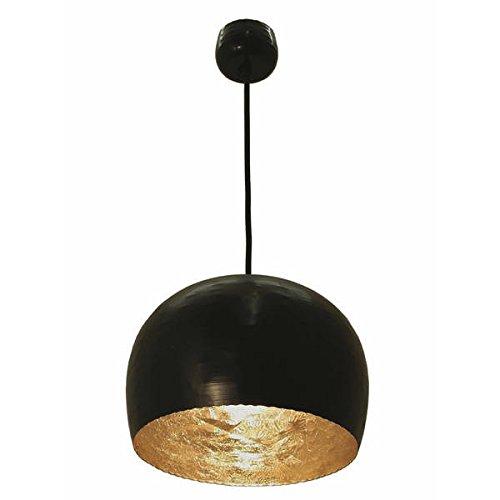 Hängelampe REIMS - schwarz / gold - aus Metall - Designlampe - Deckenlampe