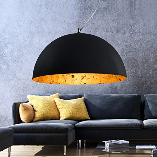 Hängeleuchte Studio | Deckenlampe 40cm | Gold | Industrie | Lounge | Wohnzimmer | Esszimmer | Schlafzimmer | dimmbar | LED geeignet |1x E27 Fassung